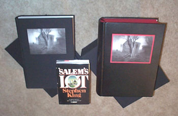 Here is the signed numbered edition (left), the signed Deluxe edition (right), in comparison to a 1st edition, 1st state Doubleday edition (center).