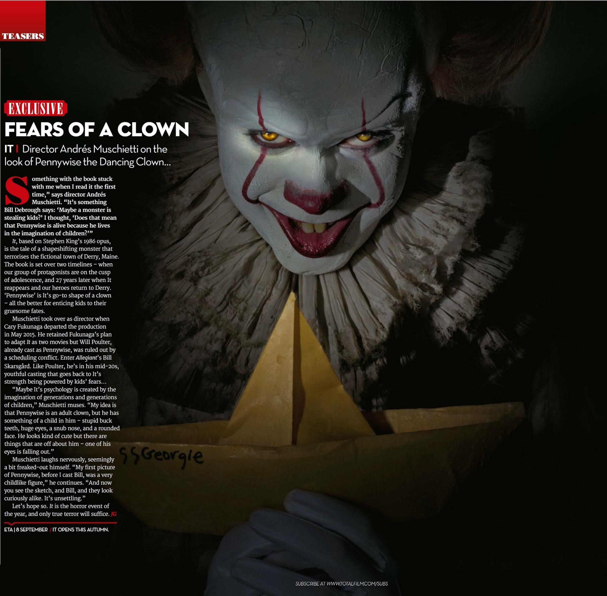 71e3a1cd173cf Here is a new photo of Pennywise from Total Film.